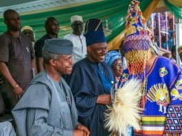 Osinbajo on new akarigbo of Remoland